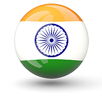 Flag of India on the Moon (Icon)