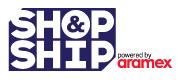 Shop and Ship via Aramex (Logo)