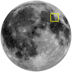Montes Taurus Location on Moon (Image)