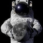 Astronaut Holding The Moon (500×550)