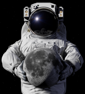 Astronaut Holding Moon Property (Image)