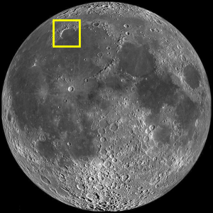 Bay of Rainbows (Sinus Iridum) Location on the Moon (Image)