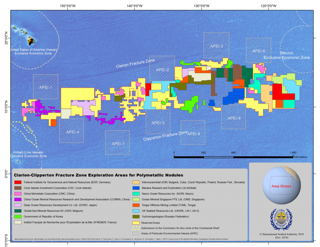 Clarion-Clipperton Fracture Zone Exploration Rights (Map)