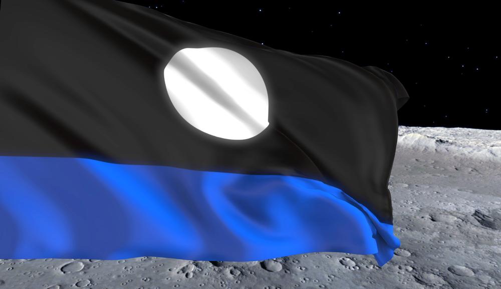 Lunar Republic Flag On The Moon (Image)