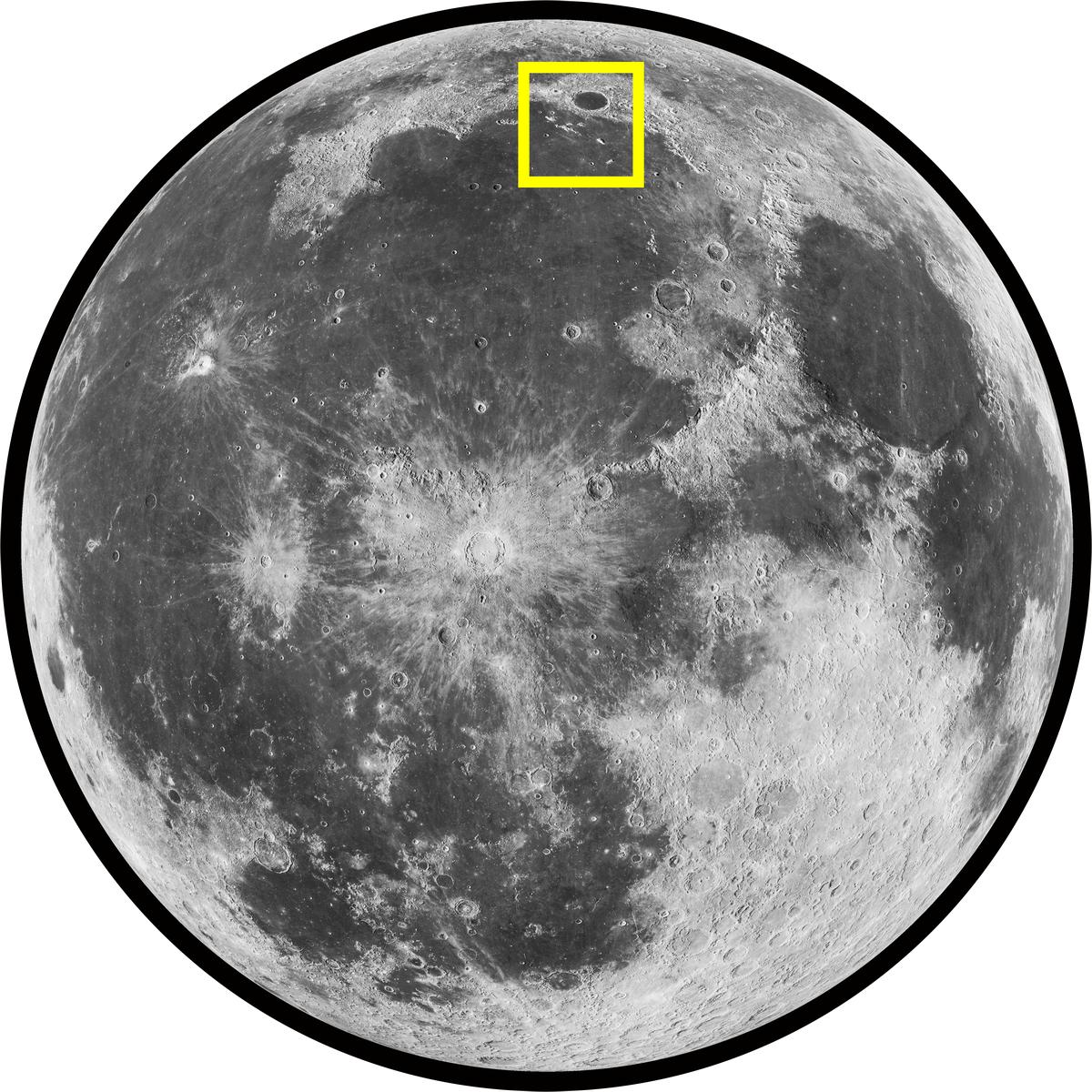 Mare Imbrium (Sea of Rains) on the Moon