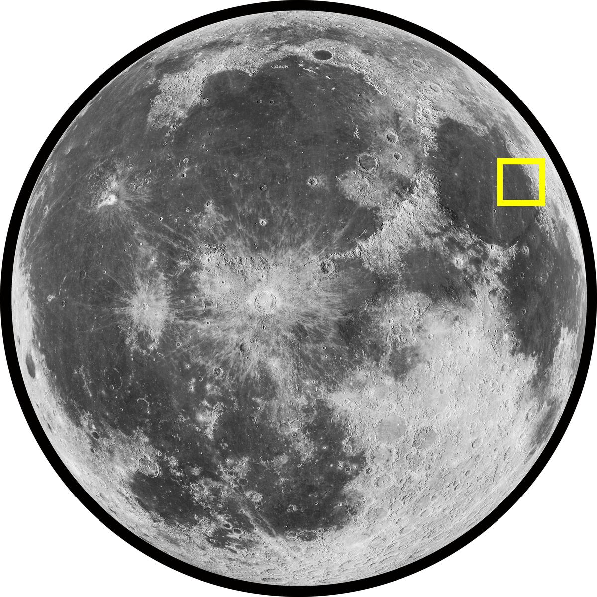 Sea of Serenity (Mare Serenitatis) on the Moon