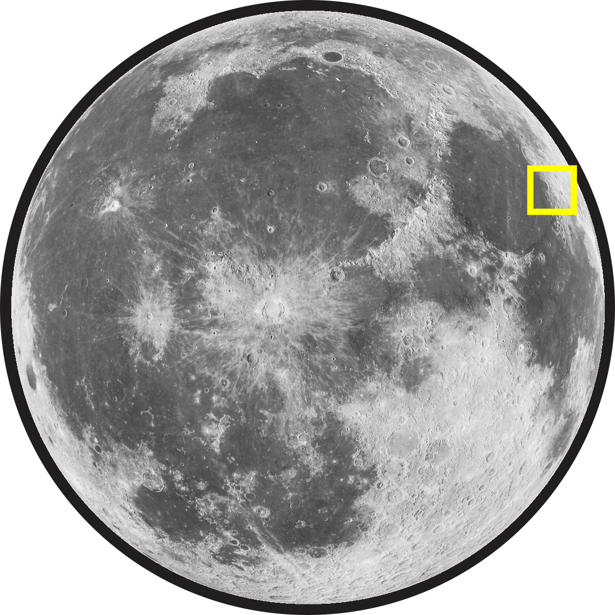 Montes Taurus (Taurus Mountains) on the Moon