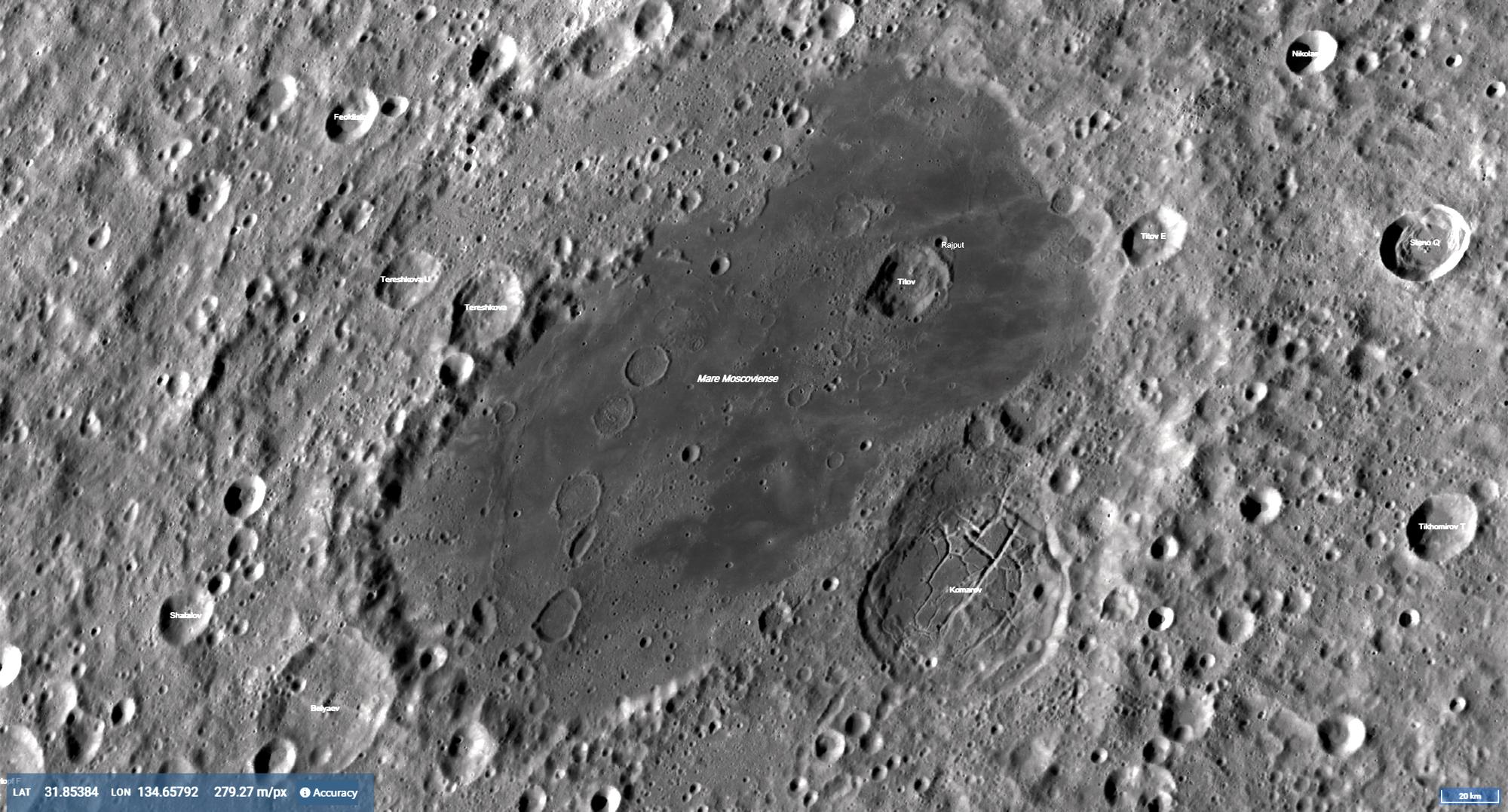 Moscoviense Region Lunar Photomap