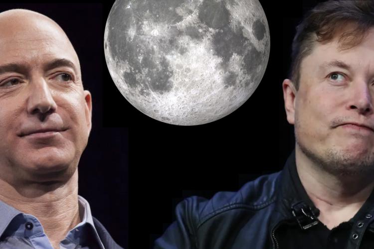 Jeff Bezos and Elon Musk: Moon Rivals (Image)