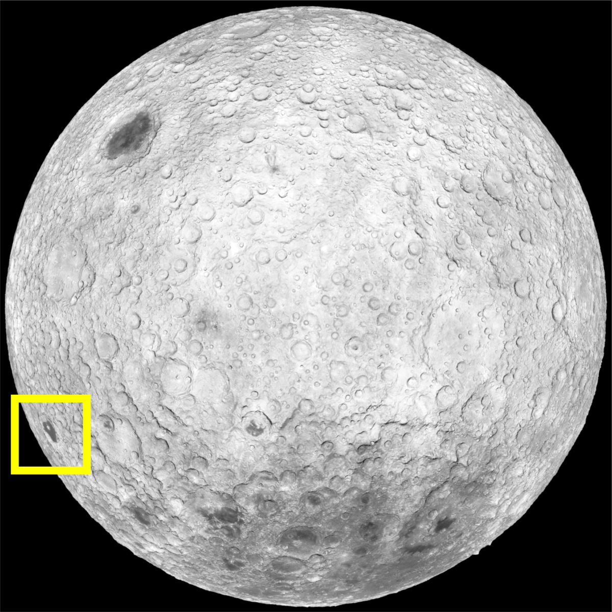 Moon Far Side Location Image (Mare Orientale)