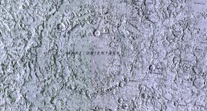 Mare Orientale Relief Map (1978)